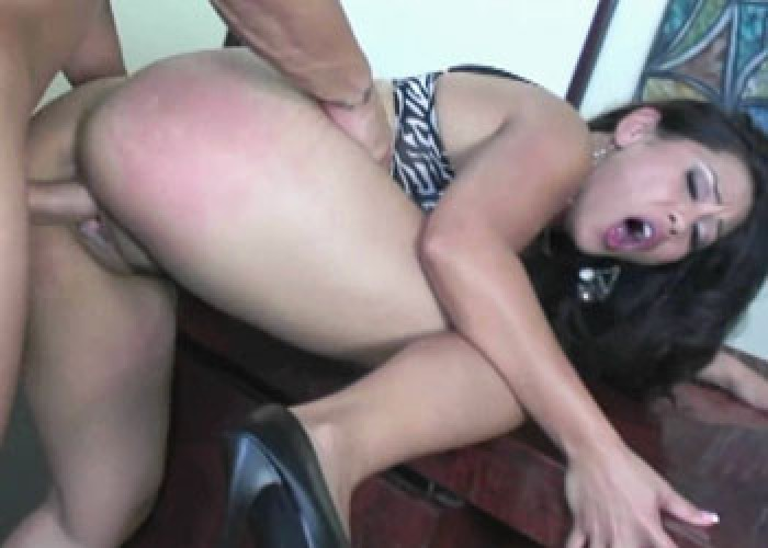Jessica gets fucked in the office