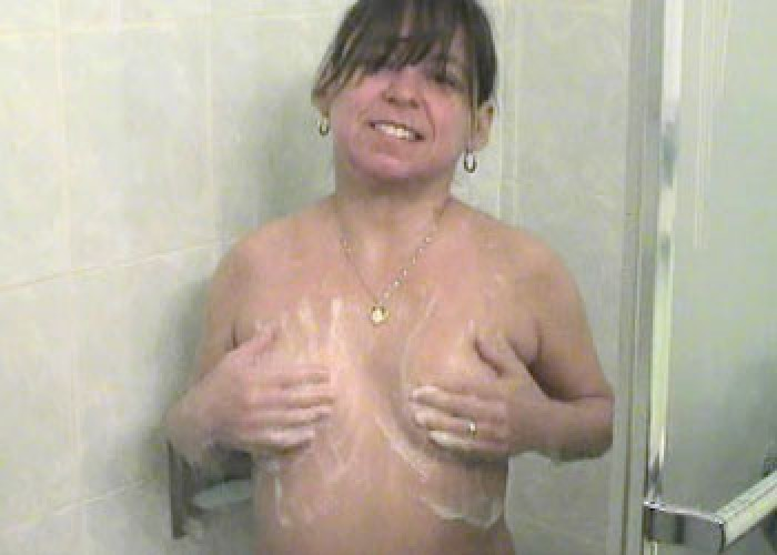 image Stevie lix pleasures herself in the shower while you watch